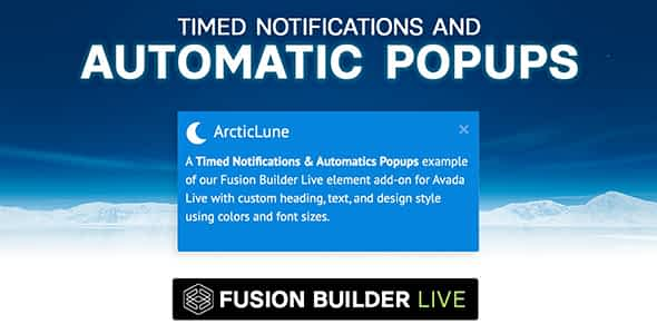 Fusion Builder Live Timed Notifications & Automatic Pop-ups ...