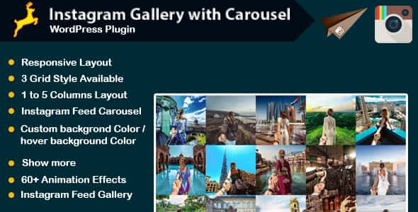 Instagram Gallery with Carousel for WordPress