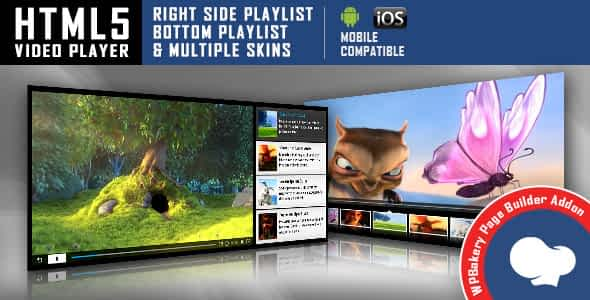 Visual Composer Addon - HTML5 Video Player for WPBakery Page...