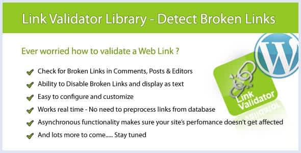 WP Link Validator - Detect Broken Links
