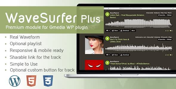 WaveSurfer Plus v1.9 - MP3 Player module for Gmedia plugin