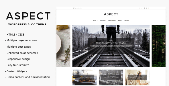 Aspect - WordPress Blog Theme Nulled