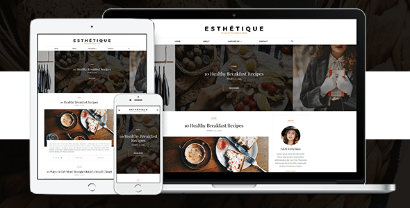 Esthétique - Personal WordPress Blog Theme Nulled