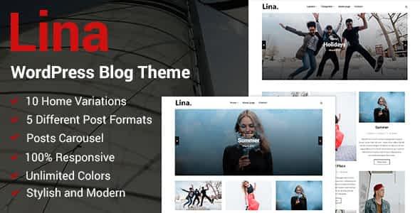 Lina - Responsive WordPress Blog Theme Nulled