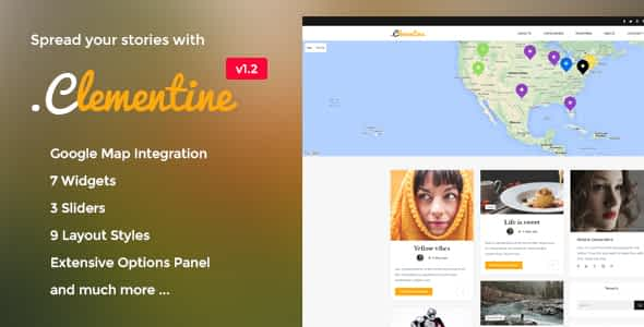 Clementine - Clean WordPress Blog Theme Nulled