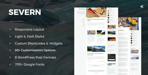 Severn - Responsive WordPress Blog Theme Nulled