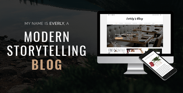 Everly Blog - A Responsive WordPress Blog Theme Nulled