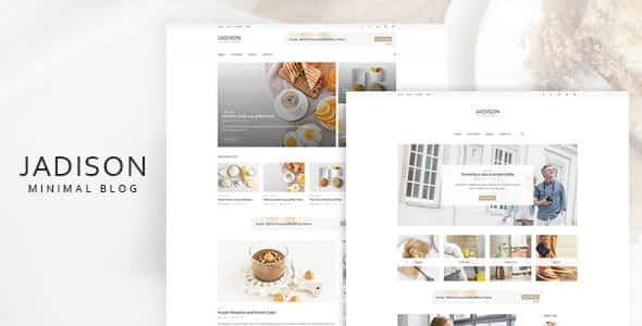 Jadison -Clean And Minimal WordPress Blog Theme Nulled