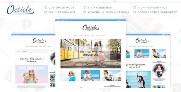 Octicle - Personal WordPress Blog Theme Nulled