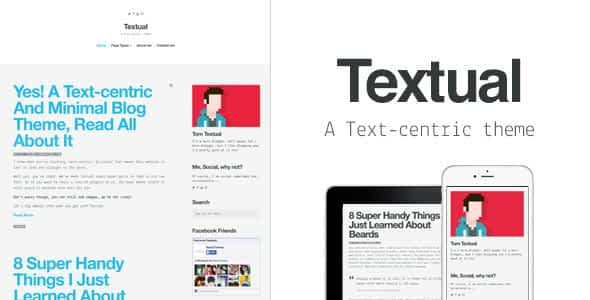 Textual - A Text-Centric WordPress Blog Theme Nulled