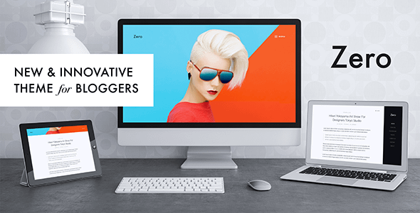 Zero - Responsive WordPress Blog Theme Nulled