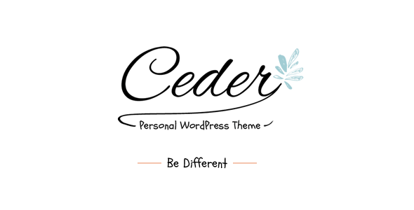 Ceder - Personal WordPress Blog Theme Nulled