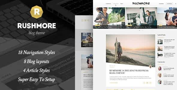 RushMore - A Responsive WordPress Blog Theme Nulled