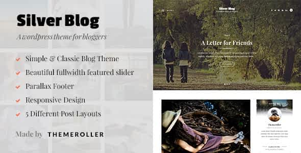 Silver Blog - A Simple WordPress Blog Theme Nulled