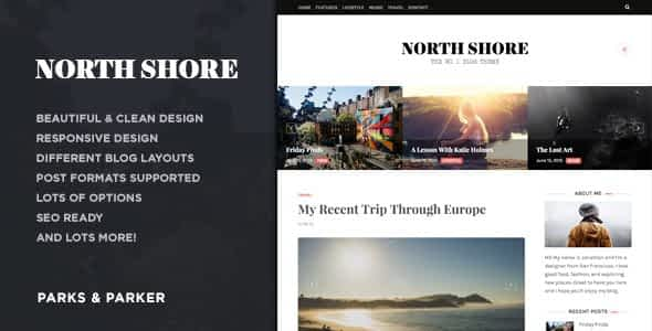 North Shore - A Responsive WordPress Blog Theme Nulled