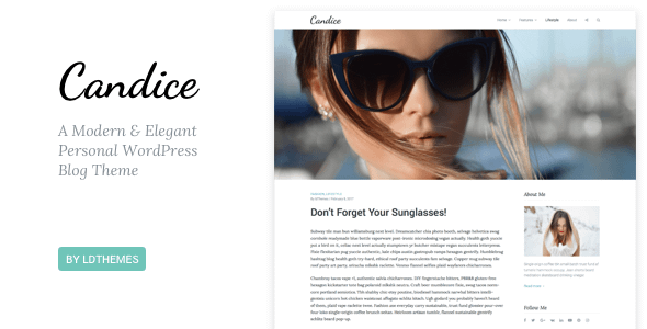 Candice - A Responsive WordPress Blog Theme Nulled