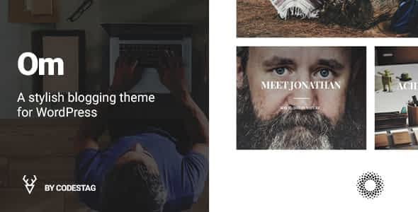 OM - A stylish blogging theme for WordPress Nulled