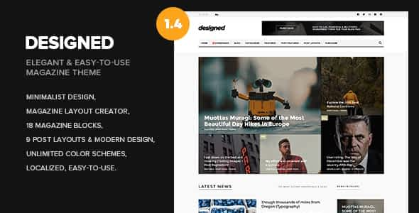 Designed - Newspaper and Blog WordPress Theme Nulled