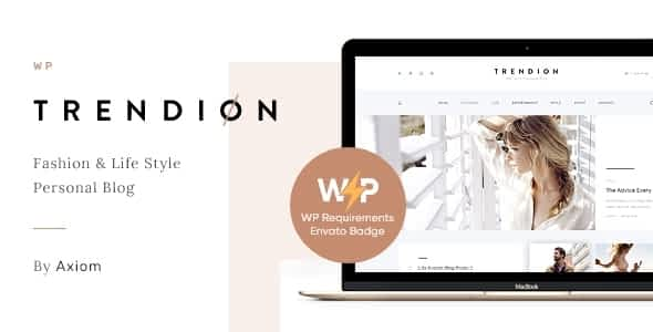 Trendion | A Personal Lifestyle Blog and Magazine WordPress ... Nulled