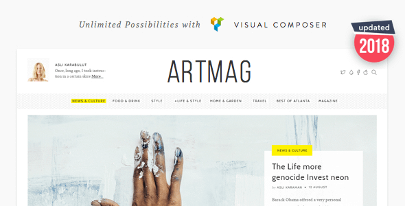 Artmag - Clean WordPress Blog and Magazine Theme Nulled