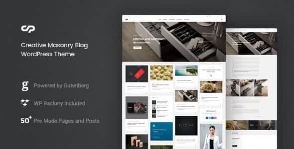 ClaPat - Creative Masonry Blog WordPress Theme Nulled