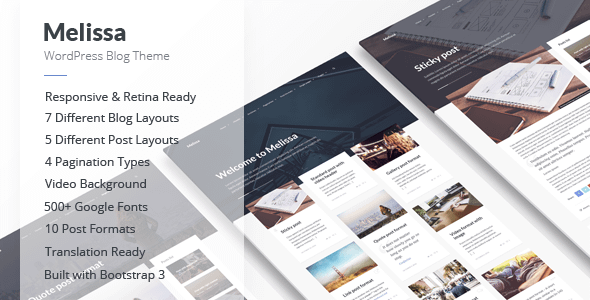 Melissa - Personal Blog/Magazine WordPress Theme Nulled