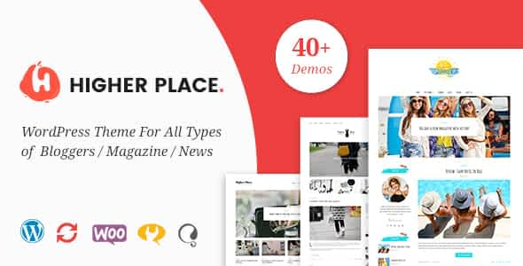 Higher Place - Blog & Magazine WordPress Theme Nulled