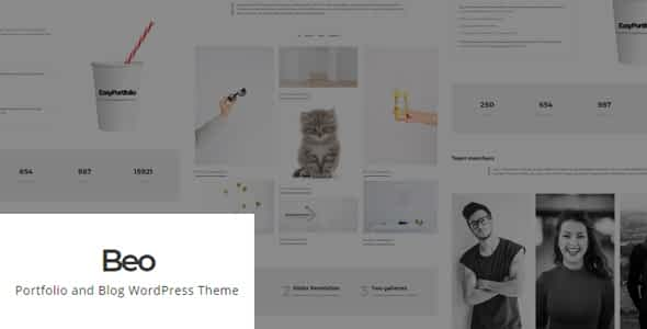 Beo - Portfolio and Blog WordPress Theme Nulled