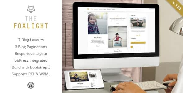 Foxlight - WordPress Personal Blog Theme Nulled