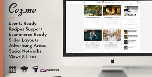 Cozmo - Clean WordPress Blog / Events Theme Nulled