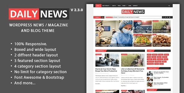 Daily News - WordPress Magazine And Blog Theme Nulled
