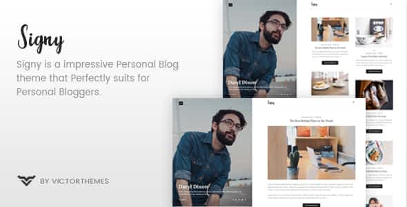 Signy - A Personal Blog WordPress Theme Nulled