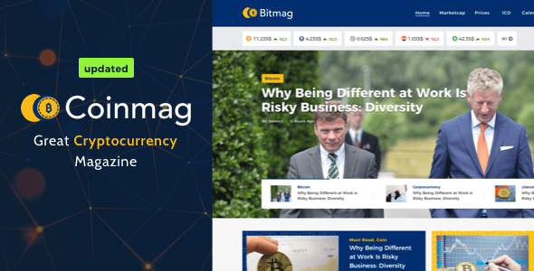 Coinmag - CryptoCurrency Blog WordPress Theme Nulled