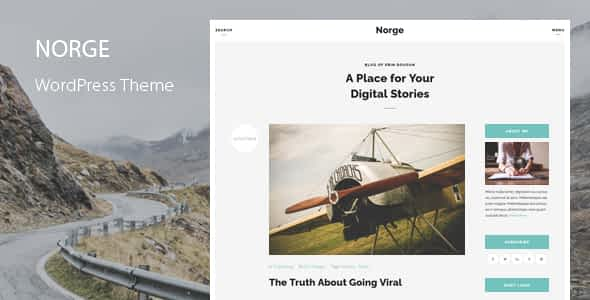 Norge - Responsive Blog WordPress Theme Nulled