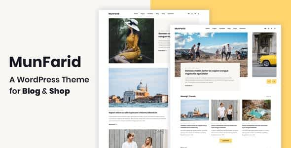 Munfarid - A WordPress Theme For Blog & Shop Nulled