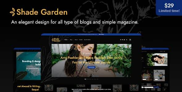 ShadeGarden - Creative Blog WordPress Theme Nulled