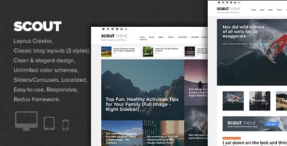 Scout - Adventure / Activity Blog WordPress Theme Nulled