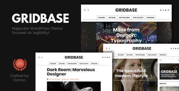 Gridbase - A News and Blog WordPress Theme Nulled