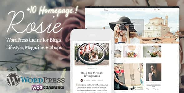 Rosie - A Beautiful WordPress Blog and Shop Theme Nulled