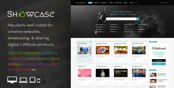 Showcase=Responsive WordPress Grid / Masonry Blog Theme Nulled