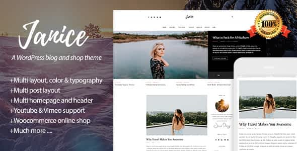 Janice - A Responsive WordPress Blog and Shop Theme Nulled