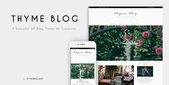 Thyme - A Blog & Shop Theme for WordPress Nulled