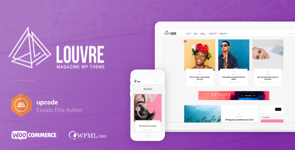 Louvre - Minimal Magazine and Blog WordPress Theme Nulled