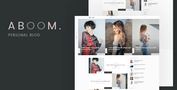 Aboom - Personal Blog WordPress Theme Nulled