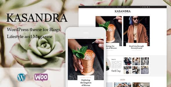 Kasandra - A Responsive WordPress Blog and Shop Theme Nulled