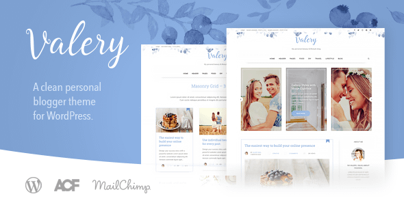 Valery CD - Personal Blog Theme for WordPress Nulled