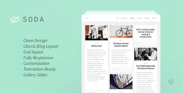 Soda — Clean Responsive Blog WordPress Theme Nulled
