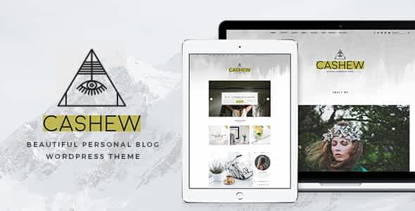 Cashew - A Personal Blog WordPress Theme Nulled