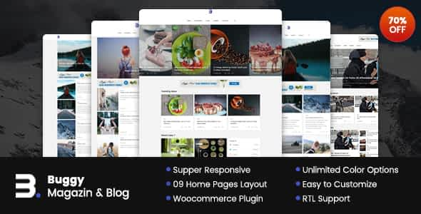 Buggy - Magazine & Blog WordPress Themes Nulled
