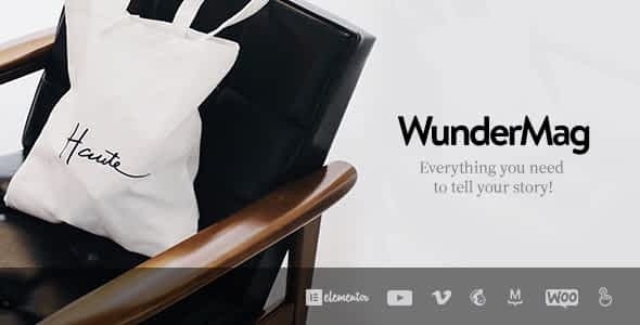 WunderMag - A WordPress Blog / Magazine Theme Nulled